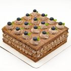 Cocoa Blueberry Cake 10 Inch