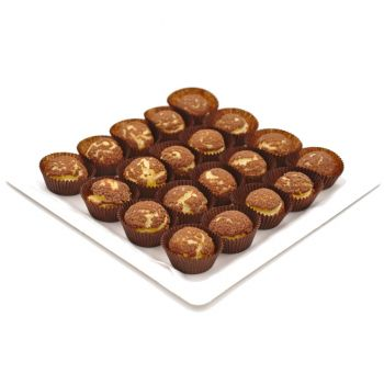 Mini Chocolate Puff Platter