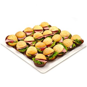 Mini Hamburger Platter