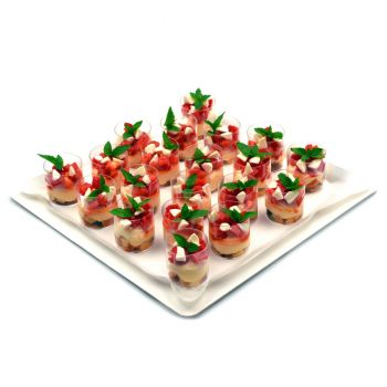 Caprese Trifle Cup Platter